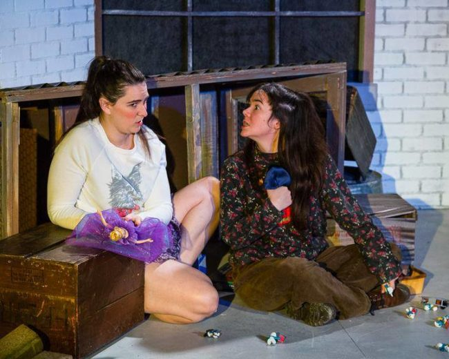 Katie Rattigan (left) as Kit and Karli Cole (right) as Angie in Top Girls