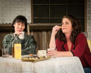 Julie Herber (left) as Joyce and Gené Fouché (right) as Marlene in Top Girls