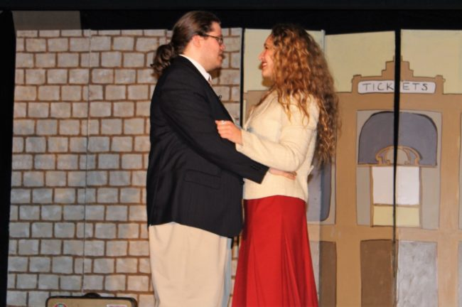 Seth David (left) as Albert Peterson and Alana DiSabatino (right) as Rosie Alvarez in Bye Bye Birdie