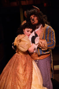 Nicki Elledge (left) as Belle and Russel Sunday (right) as Beast in Beauty and The Beast