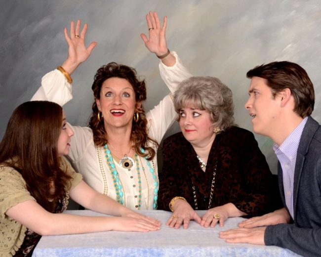 (L to R) Emily Morgan as Deirdre, Jennifer Skarzinski as Felicia, Regina Rose as Lilian and Charles Lidard as Andrew Rally