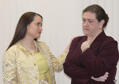 Terra Elaine Vigil-Wynn (left) as Blanche Cooke and Katie Wanschura (right) as Elaine Wheeler