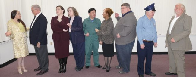 The company of Night Watch at Bowie Community Theatre