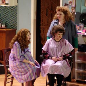Rebecca Clendaniel (left) as Annelle, Katherine Wenerick-Bell (center) as M'Lynn, and Amy Heller (right) as Truvy