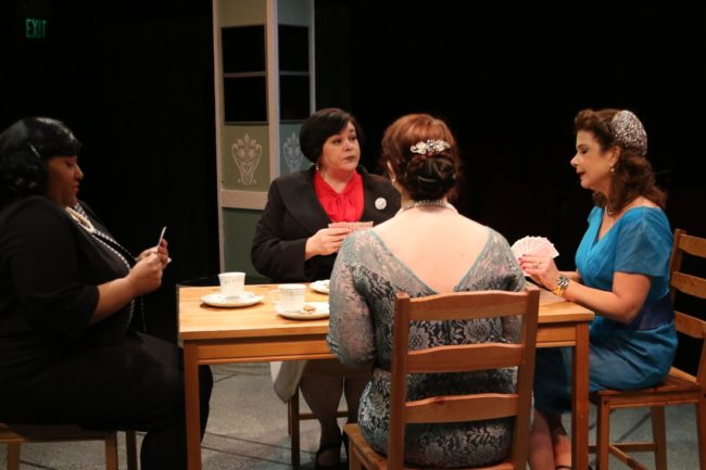 (L to R) Tynesha Haden as Edith Potter, Andrea Bush as Nancy Blake, Nina Krauss as Peggy day, and Melanie Bishop as Sylvia Fowler