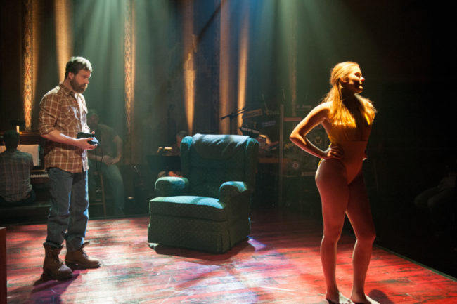 Timothy J. Alex (left) as Red and Morgan Keene (right) as Stina in Midwestern Gothic