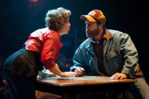 Sherri L. Edelen (left) as Deb and Timothy J. Alex (right) as Red in Midwestern Gothic