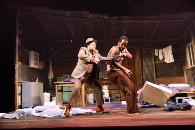 (L to R) Tom Story as Morris and Nathan Hinton as Zachariah in Blood Knot at Mosaic  Theater Company of DC,