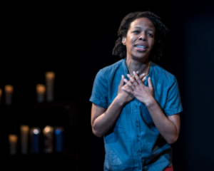 Nilaja Sun in Pike St. at Woolly Mammoth Theatre Company