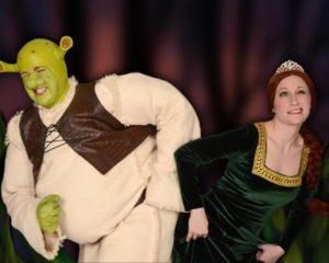 Dickie Mahoney (left) as Shrek and Sherry Benedek (right) as Fiona
