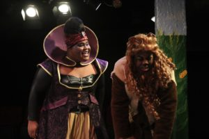 DDm (left) as Evillene and J. Purnell Hargrove (right) as Lion in The Wiz