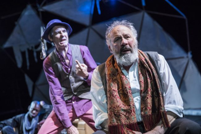 Christopher Henley (left) as The Fool and Rick Foucheux (right) as Lear