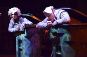Lee Conderacci (left) as Nell and Lance Bankerd (right) as Nagg in Endgame