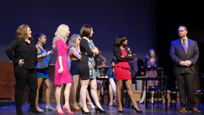 Parker Bailey Steven as Enid; Nia Smith as Pilar; Lindsey Landry as Elle Woods; Jennie Phelps as Margot; Allison Bradbury as Vivienne Kensington; Summer Hill as Brooke Wyndham; Ryan Geiger as Professor Callahan;