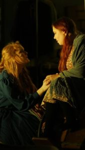 Grace Dillon (left) as Jo March and Mea Holloway (right) as Beth March