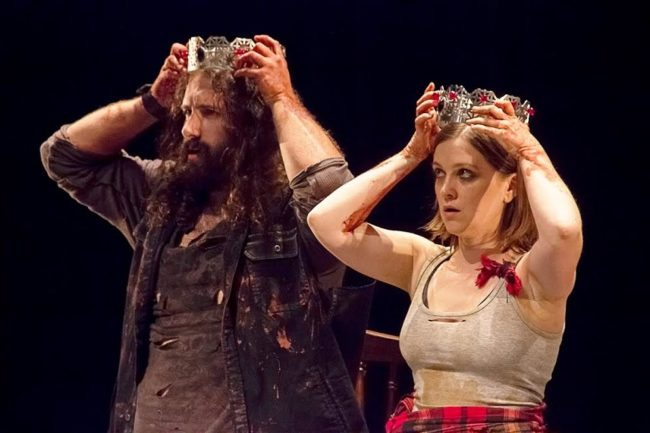 Joe Grasso (left) as Macbeth and Tess Garrett (right) as Lady Macbeth