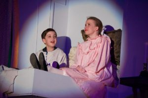 Gabe Viets (left) as Colin and Ruby Webb (right) as Mary Lennox