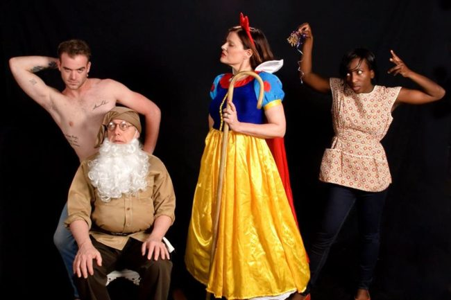 (L to R) Patrick Finn as Spike, Jim Reiter as Vanya, Rebecca Kyler Downs as Masha, and Ashley Spooner as Cassandra