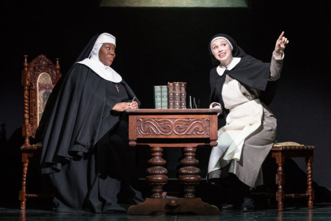 Melody Betts (left) as Mother Abbess and Charlotte Maltby (right) as Maria