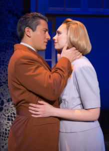 Nicholas Rodriguez (left) as Captain Georg von Trapp and Charlotte Maltby (right) as Maria