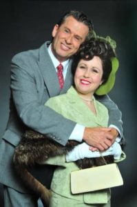 Darren McDonnell (left) as Mortimer Brewster and Kristen Miller (right) as Elaine