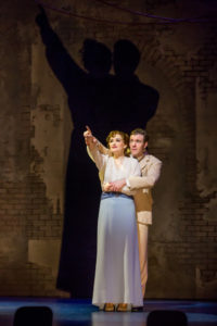Christine Dwyer as Sylvia Llewelyn Davies and Billy Harrigan Tighe as JM Barrie in Finding Neverland