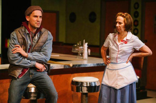 Matt Lee (left) as Greg and Julie Herber (right) as Heather