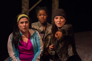 Meghan Taylor (left) as Simone, Eirin Stevenson (center) as Tanisha, and Anna Lynch (right) as Wren