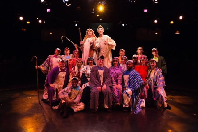 The cast of Joseph and The Amazing Technicolor Dreamcoat at Toby's Dinner Theatre