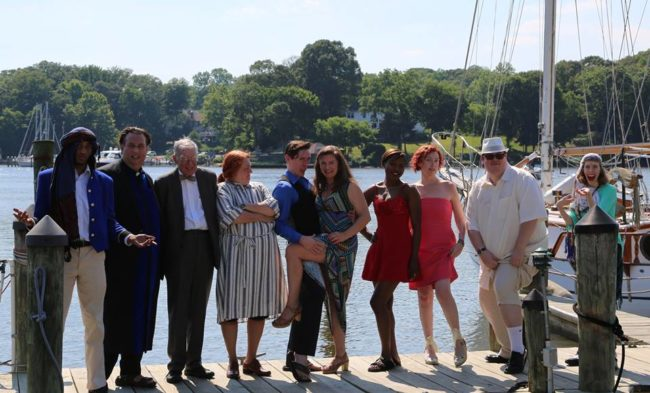 The cast of Agatha Christie's Murder on the Nile with Thunderous Productions