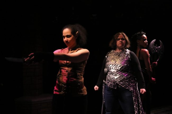 Amanda Harris (left) as Kaliope, Lanoree Blake (center) as Tilly, and Danielle Short (right) as Lilith
