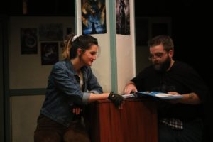 Rachel Verhaaren (left) as Agnes and Michael Crook (right) as Chuck