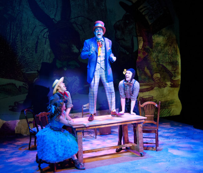 A scene from Alice and The Book of Wonderland at Annapolis Shakespeare Company