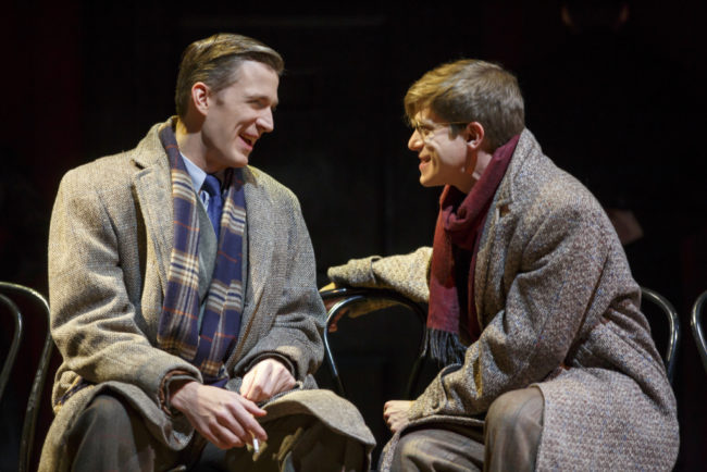 Benjamin Eakeley as Clifford Bradshaw and Patrick Vaill as Ernst Ludwig in the 2017 National Touring production of Roundabout Theatre Company's CABARET