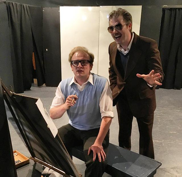 Josh Mooney (left) as Jack Kirby and Erik Harrison (right) as Stan Lee in King Kirby at Off The Quill