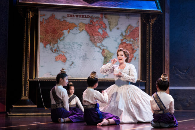 Laura Michelle Kelly as Anna with The Royal Children