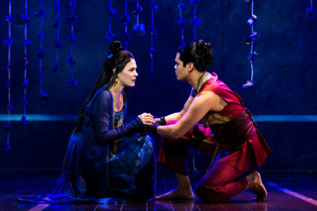 Manna Nichols and Kavin Panmeechao in Rodgers & Hammerstein's The King and I.