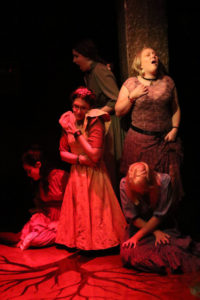 The Female Ensemble of Spring Awakening at Spotlighters Theatre