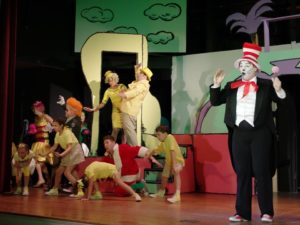 Stephan Foreman (right) as The Cat in the Hat