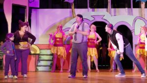 Jim Gross (center) as Horton in Seussical the Musical