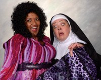 Rikki Howie Lacewell (left) as Deloris Van Cartier and Jane C. Boyle (right) as Mother Superior