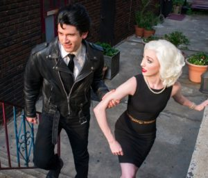 Justin Moe (left) as Orin and Lindsey Landry (right) as Audrey