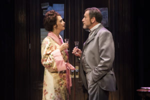 Holly Twyford (Desiree Armfeldt) and Bobby Smith (Fredrik Egerman) in A Little Night Music at Signature Theatre.