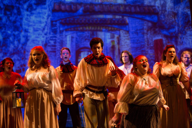 The Congregation of The Hunchback of Notre Dame at CCTA's Teen Professional Theatre
