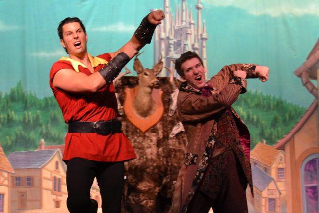 Casey Gomes (left) as Gaston and Mark Quackenbush (right) as LeFou