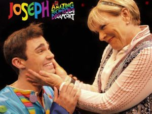 Wood Van Meter (left) as Joseph and Cathy Mundy (right) as The Narrator
