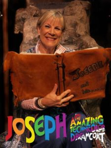 Cathy Mundy as The Narrator in Joseph and The Amazing Technicolor Dreamcoat