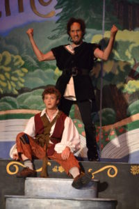 Adam Yastrzemsky (below) as Lefou and Matthew Lamb (above) as Gaston