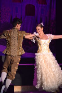 Jack Merson (left) as Lumiere and Amanda Polanowski (right) as Babette