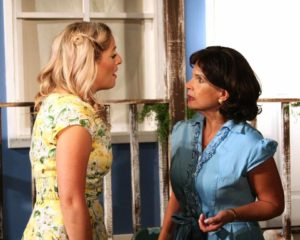 Joanna DiPaola (left) as Madge Owens with Melanie Bishop (right) as Flo Owens in Picnic